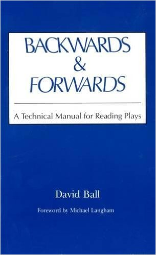 The cover of Backwards and Forwards by David Ball. We apply his techniques to practice reading tarot backwards.